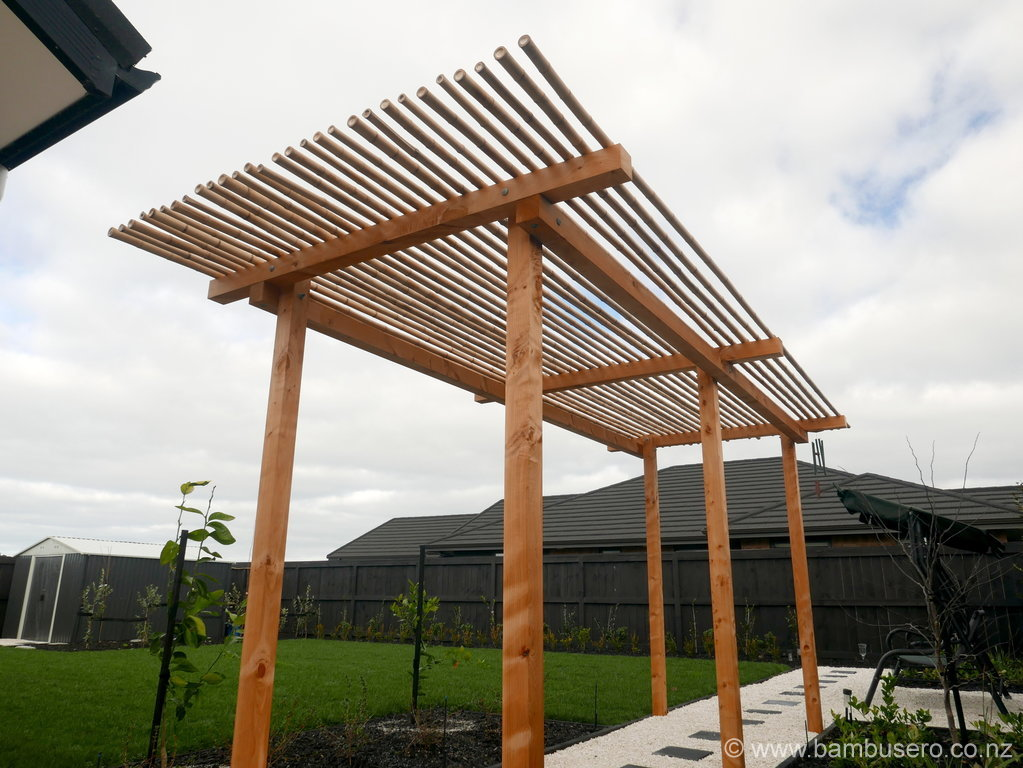 Pergola Amp Gazebo Bamboo Roof New Zealand Bambusero