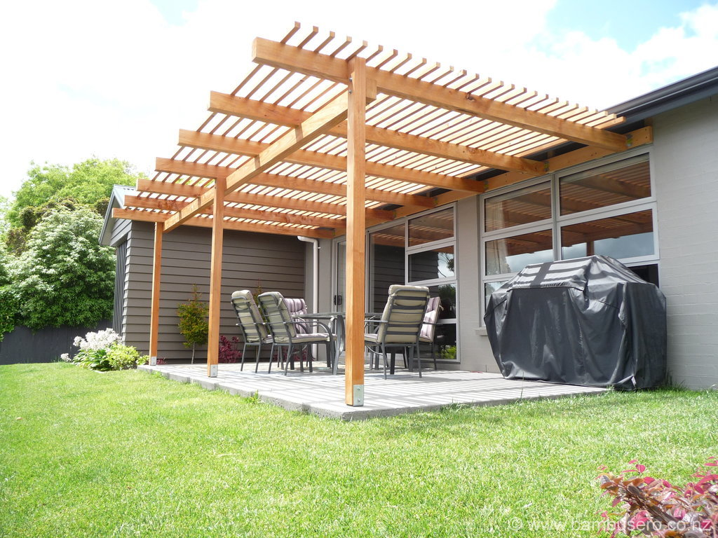 Bamboo roofing pergola the image kid has it - Pergola with roof ...